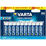 Varta High Energy AA Batteries - 20 Pack