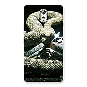 Special Gun And Rattle Snake Back Case Cover for Lenovo Vibe P1M