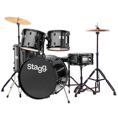 stagg-tim122b-bk-drum-set