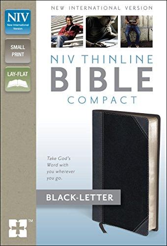 NIV, Thinline Bible, Compact, Imitation Leather, Gray/Black, Lay Flat PDF