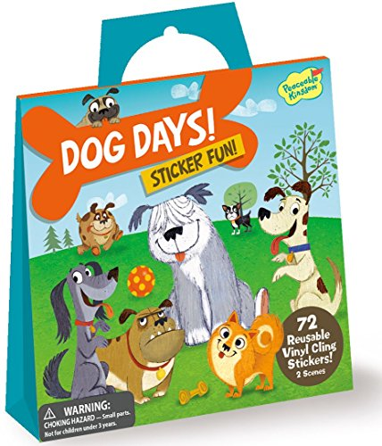 Peaceable Kingdom Sticker Fun! Dog Days Reusable Sticker Tote