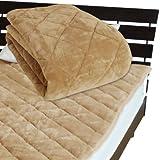 敷パッド ベッドパッド シーツ メーカー直販 とろけるような肌触り ふわふわ敷きパッド キング 200×205cm キャメル