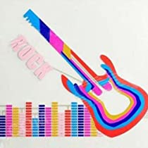 Manso 90*25cm Rock Guitar Style Car LED Light Music Sticker Sound Activated Rhythm Lamp