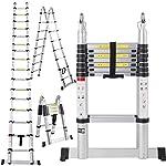 En131 Std. 16.5 Ft Aluminum Telescopic Telescoping Collapsible Ladder Extension