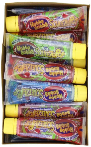 Hubba Bubba Squeeze Pop Assorted Sour Lollipops 4-Ounce Tubes Pack of 18B001D3PYHM