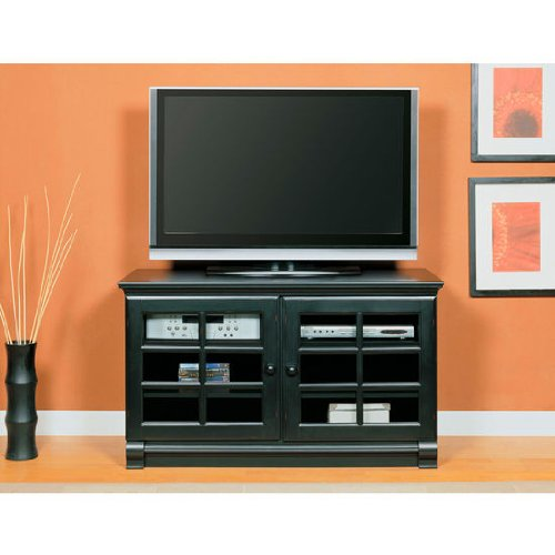 Cheap Altra Framed Door TV Stand, 47-6/10 inch W x 21-3/10 inch D x 27-6/10 inch H, Black (ALT-1102096)