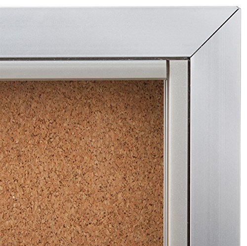 Displays2go 48 x 36 Inches Enclosed Bulletin Board for ...