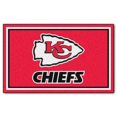 FANMATS NFL Kansas City Chiefs Nylon Face 4X6 Plush Rug