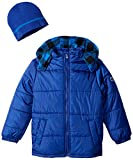 iXtreme Boys' 100 Percent Polyester Puffer Coat with Hat