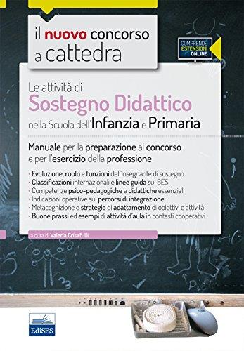 CC31 Le attività di sostegno didattico nella scuola dell'infanzia e primaria Manuale per la preparazione al c PDF