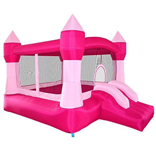 Cloud-9-Princess-Inflatable-Bounce-House-Pink-Castle-Theme