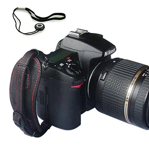 First2savvv OSH1101G14 Leder Handschlaufe, für D-SLR Kameras und Bridge Kameras, Echtes Leder, Camera Hand Strap HS-A Trageschlaufe Handgelenkschlaufe Schlaufe Handgriff für Nikon D4S SONY A77 II SAMSUNG Galaxy NX WB1100F NX1 NX30 panasonic LUMIX DMC-FZ1000EB DMC-FZ200 LUMIX DMC-FZ70 PENTAX K-r Pentax K-30 645D 645 Z Canon EOS 7D Mark II PowerShot SX60 HS EOS 7D Mark II PowerShot SX60 HS Nikon D750 mit Objektivdeckel Seil