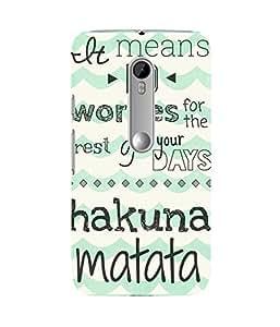 Hakuna Matata Moto G3 Case