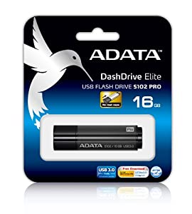 ADATA Superior Series S102 Pro 16GB USB 3.0 Flash Drive (AS102P-16G-RGY)