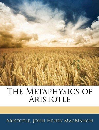 The Metaphysics of Aristotle