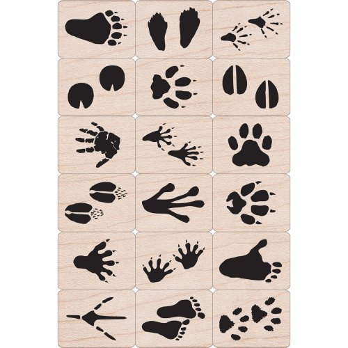 Animal Rubber Stamps - Animal Tracks