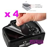 4 Pieces of Camera LCD Screen Guard Protector For CANON PowerShot S100, S95, IXUS 115, 500HS