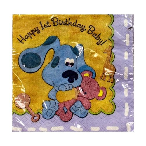 Blue's Clues 1st Happy Birthday Cake Napkins (16 Count)