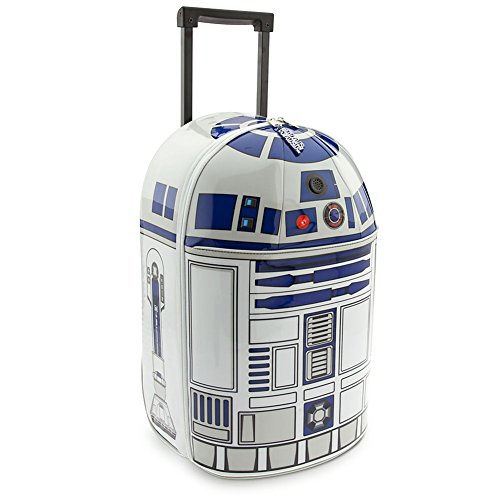 Disney Store Star Wars R2-D2 Light-Up & Sound Rolling Luggage/Carry-On Suitcase