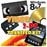 Video-2-PC DIY Video Capture Kit. For Windows 10, 8.1, 8, 7, Vista & XP. Links your VCR or Camcorder to the USB port on your PC. Copy, Convert, Transfer: VHS, Video-8, VHS-C, Hi8, Digital8, & MiniDV video tapes to digital format H.264, MPEG, MPEG-2, MPEG-4 & uncompressed AVI files & burn to DVD. Tested with Windows 10, 8.1 & Windows 7 32 & 64 bit, Vista & XP. 28 day refund offer if not completely delighted.