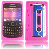 Retro Cassette Silicone Case Cover Shell For Blackberry 9360 9350 9370 / Pink