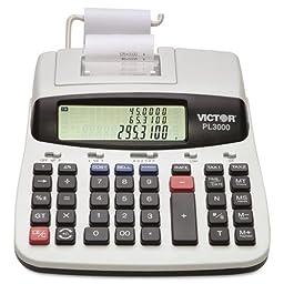Victor Pl3000 Desktop Calculator 12-Digit Lcd Two-Color Printing Prompt Logic Technology