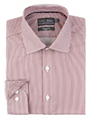 Performance Pure Cotton Textured Striped Shirt