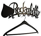 Wandgarderobe-ROCKABILLY-Design-Flur-Garderobe-56-cm-Metall-Hakenleiste