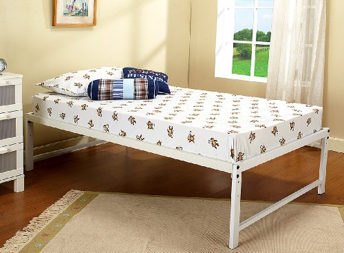 Discount for white metal twin size day bed daybed for Cheap double bed frames under 50