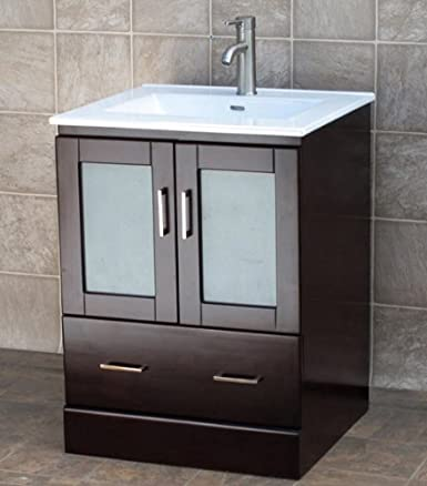"24"" Bathroom Vanity Cabinet Ceramic Top Sink MCT"