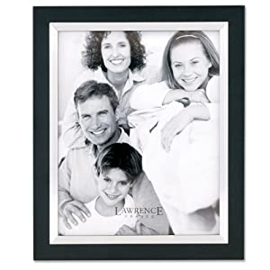 Lawrence Frames Black Wood 11 by 14 with Silver Metal Inner Bezel Picture Frame