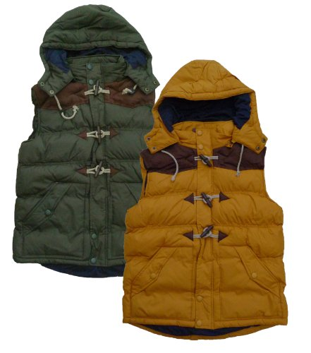 Mens Brave Soul MJK Boston Gilet Body Warmer With Removable Hood (Small 36