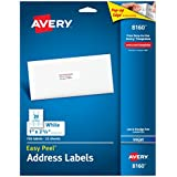 Avery Easy Peel Address Labels for Inkjet Printers, 1 x 2.62 Inch, Box of 750 Labels, White (08160)