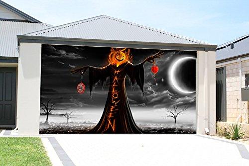 ... Halloween Holiday Garage Door Décor 7u0027x16u0027Check Price 3D ...