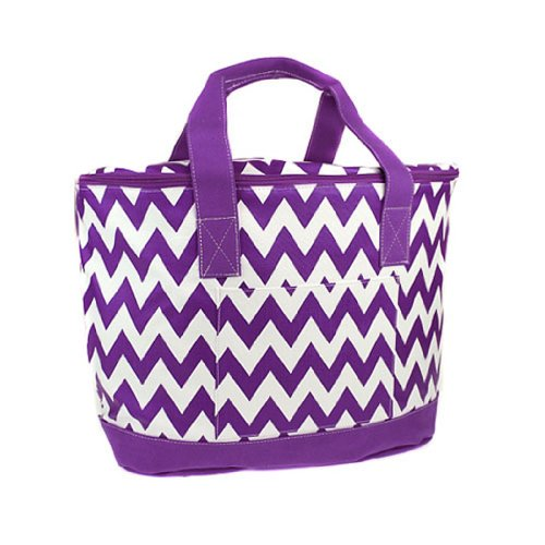 New Fashion Trendy Cs 3504 Sv Chevron Cooler Bag Purple - 015 Swt front-178476