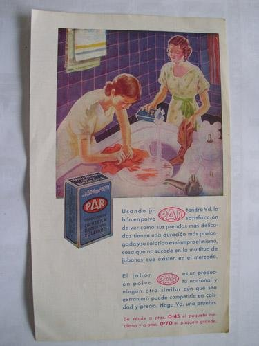 hoja-revista-publicidad-sheet-magazine-advertising-jabon-en-polvo-par