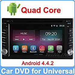 See Ownice Pure Android 4.4.2 Quad Core Universal 2 two Din Car DVD Player GPS Navigation Radio Built-in WiFi Support TPMS OBDll DVR Details
