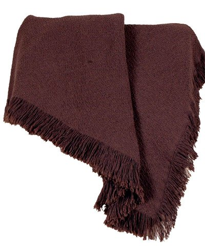 Earth Brown Eco2Cotton Hemingway Afghan Throw Blanket 50