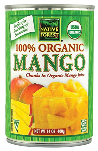 Native Forest Organic Mango Chunks, 14-Ounce Cans (Pack of 6) (Canned Mangoes compare prices)