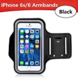 iPhone 6 Armband, iPhone 6s Armband, iPhone 6 Armband for Running Sport Workout, Armband Case with Key Holder, Toullfly® Protective Gym, Running Jogging ,Sport Armband Case for iPhone 6s / 6 (Black)