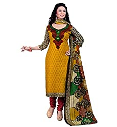 Miraan Womens Cotton Unstitched Dress Material (Sg705 _Multi-Coloured)
