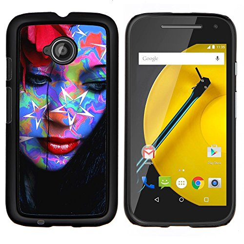 Stuss Case / Premio Sottile Slim Cassa Custodia Case Bandiera Cover Armor PC Aluminium - Abstract Art Pop Tattoo DonnaResumen Pop Art Tattoo Mujer - Motorola Moto E2 E2nd Gen