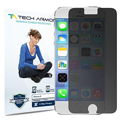 Tech Armor iPhone6 4.7 のぞき見防止 フィルム 4 Way Privacy 指紋防止 覗き見防止 プライバシーガード 液晶保護フィルム スクリーンプロテクター for Apple iPhone 6 4.7インチ ( 保護フィルム 1枚入り ) 【国内正規品】