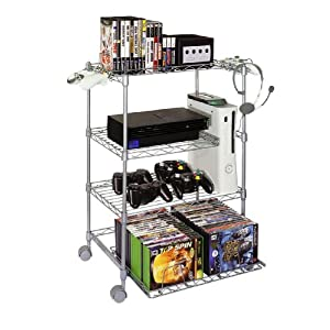 video game storage: wire gaming tower