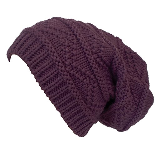 Ladies Women's Gorgeous Knit Slouch Winter Hat Beanie (6 Colours Available)