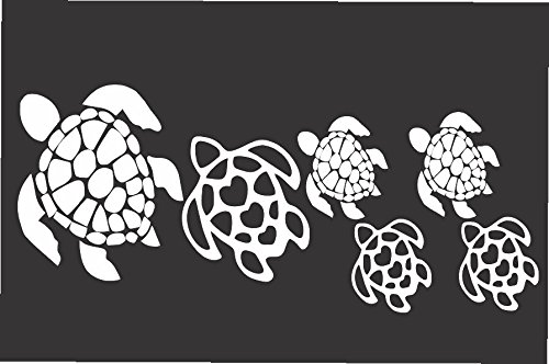 Turtle Family- Die Cut Vinyl Window Decal/sticker for Car or Truck 3.5
