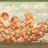 Victorian Cherubs Wallpaper Border