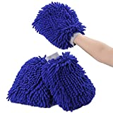 3-Pack Premium Car Wash Mitt with Double Sided, Extra Large Size, Highest Density Chenille Microfiber, Dry-wet Dual Purpose, Ultra Soft, Super Absorbent, Lint Free, Scratch Free