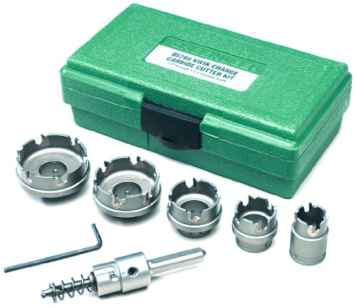 Greenlee 660 Kwik Change Stainless Steel Hole Cutter Kit, 7 Piece (Stainless Steel Cutting Tools compare prices)