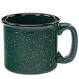 Santa Fe Ceramic Campfire Coffee Mug Fleck Forest Green 12 oz.